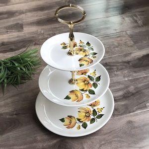 VINTAGE 3-tier serving platter